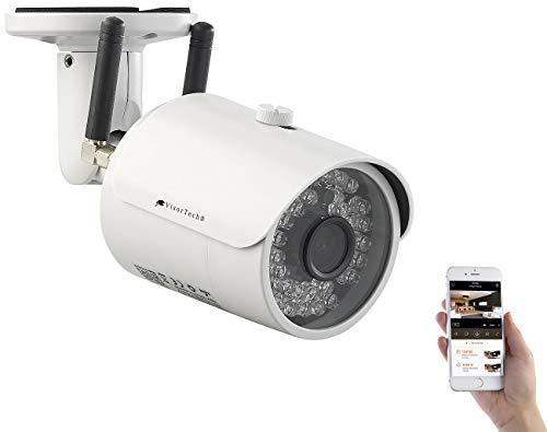 VisorTech Outdoor-IP-HD-Überwachungskamera mit GSM, 3G, WLAN & Nachtsicht, IP65