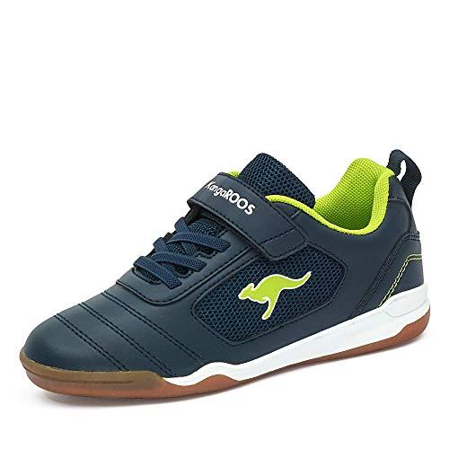 KangaROOS Nicourt EV Sneaker, Dk Navy/Lime, 32 EU