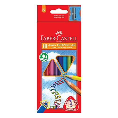 Faber-Castell 116510 - Buntstifte triangular Jumbo, 10er Kartonetui, 1 Stück