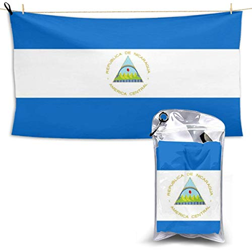 Flagge von Nicaragua Mikrofaser Übergroße Strandtücher, Schnelltrocknen Super Absorbent Sand Free Handtuch zum Schwimmen und Outdoor