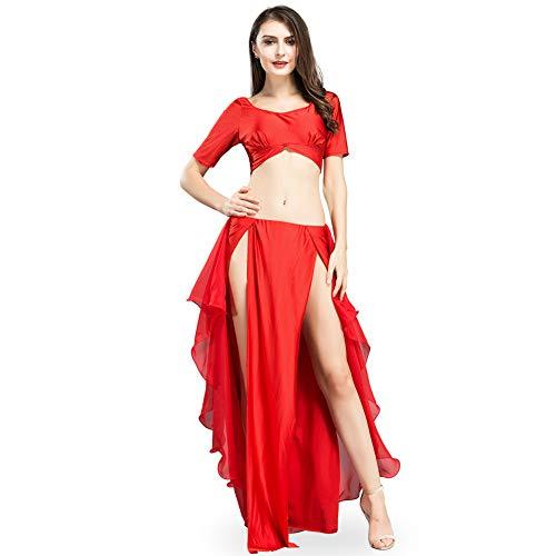 ROYAL SMEELA spódnica do tańca brzucha top zestaw do tańca brzucha kostium dla kobiet seksowny tancerz taniec przedstawienie ćwiczenia kostiumy top i rozdwajanie spódnice maxi