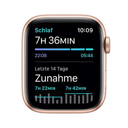 AppleWatch SE (GPS, 44mm) Aluminiumgehäuse Gold, Sportarmband Sandrosa