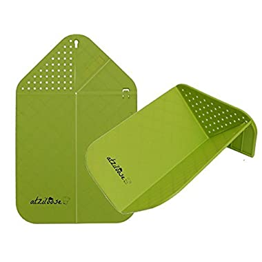 Cutting Board Plus Colander 2 in 1 Chopping Board with Integrated Strainer (Green) Christmas Gifts for Her