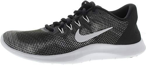 Nike Mens Flex RN 2018 Running Shoes, Black/White, 10.5