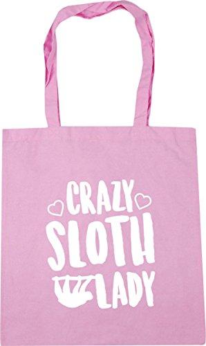 HippoWarehouse Crazy sloth lady Tote Shopping Gym Beach Bag 42cm x38cm, 10 litres