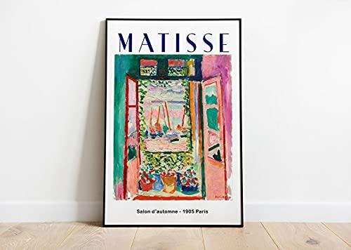 Matisse Ventana Abierta Exhibition Poster - Henri Matisse Cuadro - Decoración de pared - Obras de arte