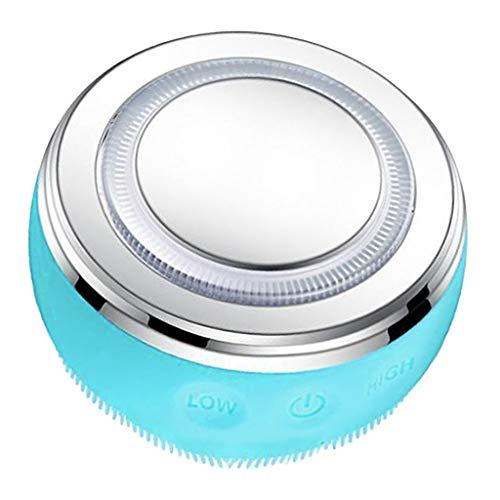 F Fityle Masseur Facial-nettoyeur de visage Machine de levage-Machine à haute fréquence-promouvoir l'absorption de la crème pour le visage-LED bleu et rouge - Bleu