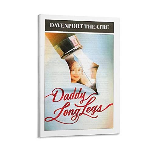 TONGDIAN Poster de film musical avec inscription « Daddy Long Legs » - Décoration murale - Impression moderne sans cadre - 20 x 30 cm