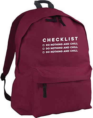 HippoWarehouse Checklist Do Nothing and chill Do Nothing and chill Do Nothing and chill Backpack ruck Sack Dimensions: 31 x 42 x 21 cm Capacity: 18 litres