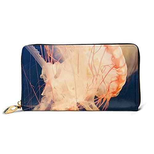 3D medusas impresión de cuero de las mujeres carteras de embrague de las mujeres bolsos de muñeca de cuero de vaca tarjetas casos y titular de dinero organizadores