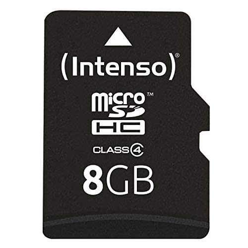 Intenso Micro SDHC 8GB Class 4 Speicherkarte inkl. SD-Adapter