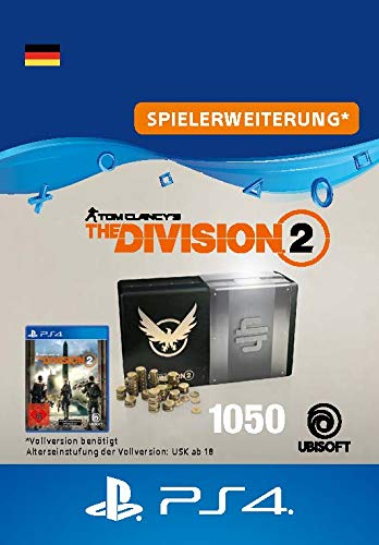 Tom Clancy's The Division 2 – 1050-Premium-Credits-Paket - 1050 Credits DLC | PS4 Download Code - deutsches Konto