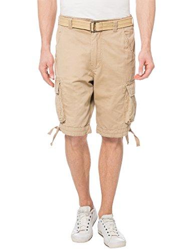 Lower East Pantalones cortos cargo de algodón para hombre