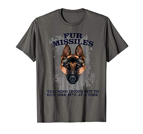 Fur missle, fur missile, dog fur missile, k9, police k9 T-Shirt