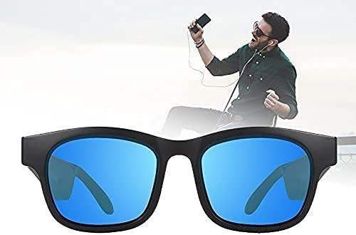 NFRMJMR Gafas Inteligentes Bluetooth, UV400 Gafas de Sol de Audio para Hombres y Mujeres Orejeras para Mujer, en Espera 7 días, Asistente de Voz/Escuchar música/contestar teléfono para Ciclismo,