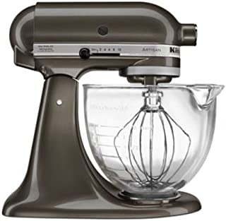 KitchenAid KSM155GBTD Artisan Design Series with Glass Bowl, 5 quart, Truffle Dust