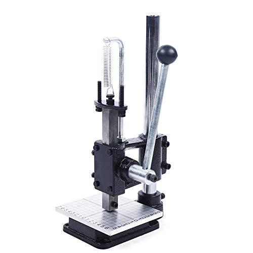 ROMYIX - Perforadora de cuero, máquina de grabación en relieve, herramientas de estampación, punchadora manual para manualidades de cuero con 11 herramientas