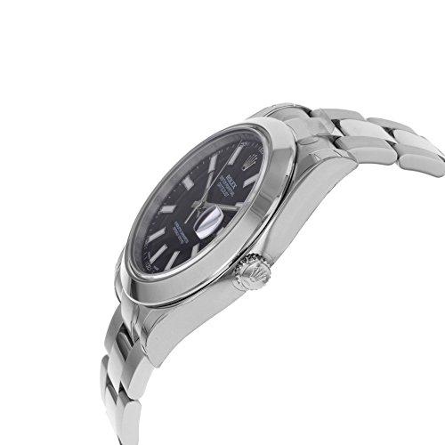 NEW Rolex Datejust II Stainless Steel Black Sticks Oyster Mens watch 116300 BKIO