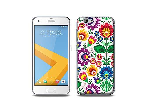 etuo Handyhülle für HTC One (A9s) - Hülle, Silikon, Gummi Schutzhülle - Folkscherenschnitt