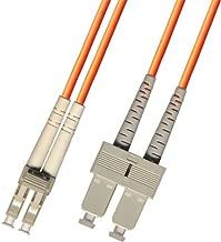 2 Meter Multimode Duplex Fiber Optic Cable (62.5/125) - LC to SC - Orange