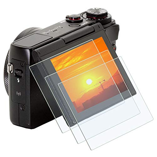 Glass Protector Canon G9XII G7XII G5XII G9X G7X G5XIII , PCTC 9H 0.3mm Tempered glass LCD Screen Protector Compatible for Canon Powershot G7X Mark II G7X G7XII G9X G9X Mark II G9XII G5X G5X Mark II G5XII Films Screen Full Cover ( 3 Pack )