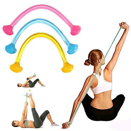 VNC Portable Silicone Yoga Pull Rope, Silicone Elastic Rope Training Equipment Elastic Stretch Resistance Band (Multi-Color)