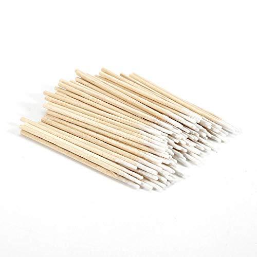 Poignée en bois 400pcs, coton-tige, bâton de coton-tige pointu, outil de nettoyage, outil de maquillage, coton-tige, nettoyage des oreilles et du nez