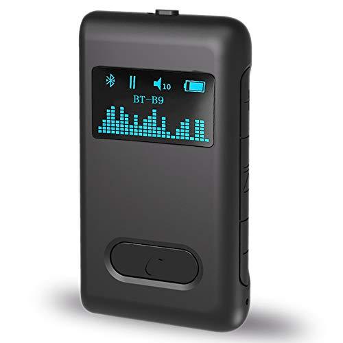 Kamenda LCD-Display 5.0 Audioempf?Nger 3,5 Mm AUX RCA Home Musik Streaming Sound Drahtloser Audioadapter füR Lautsprecherauto