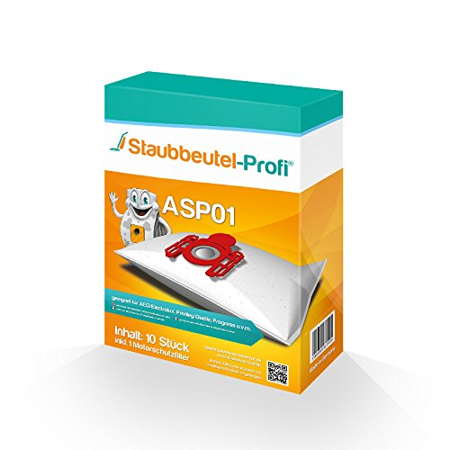 10 Staubsaugerbeutel ASP01 von Staubbeutel-Profi® kompatibel zu Swirl A 07, Swirl A07
