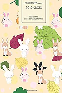 Pocket Daily Planner 2019 2020 15 Months Rabbit Bunny Planner: Small Mini Calendar To Fit Purse & Pocket; Ultra Portable Slim Academic Monthly & ... Motivational Quotes; From Oct 2019- Dec 2020