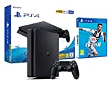 PS4 Slim 500Gb Playstation 4 Nera + FIFA 19