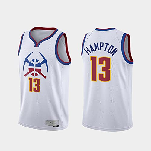 GLACX Ropa de Baloncesto para Hombre Denver Nuggets 13# Hampton New Bordado de Moda sin Mangas Camiseta Unisex,XL