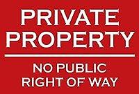 私有財産公道の権利なし壁の金属のポスターレトロなプラークの警告ブリキの看板ヴィンテージの鉄の絵画の装飾オフィスの寝室のリビングルームクラブのための面白いハンギングクラフト