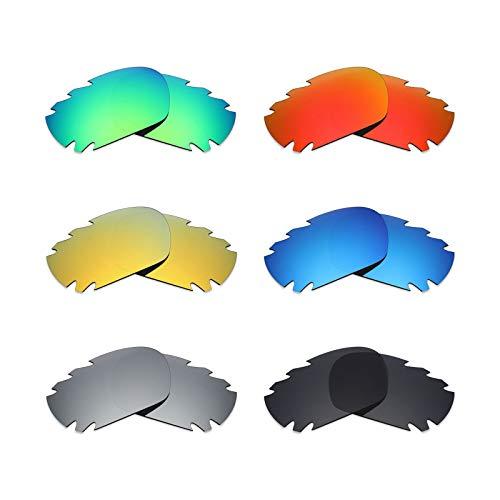MRY 6Paar Polarisierte Ersatz Gläser für Oakley Jawbone Vented Sonnenbrille