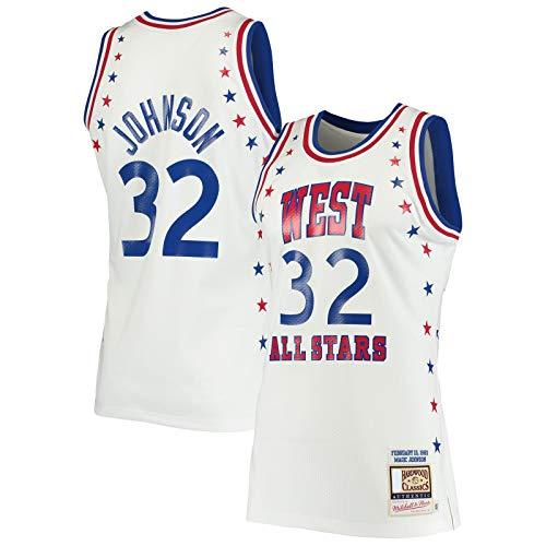 Sudadera Magic Basketball Jersey Johnson Sports Los Outdoor Angeles Blanco - Lakers #32 Juego Hardwood Classics Jersey Icono Edition-XXL
