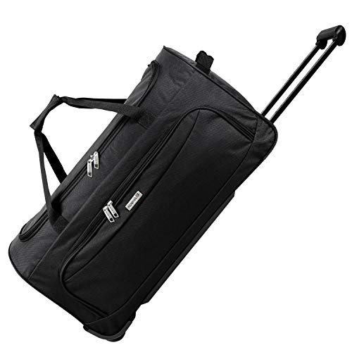noorsk Geräumige Reisetasche Sporttasche XL - Schwarz