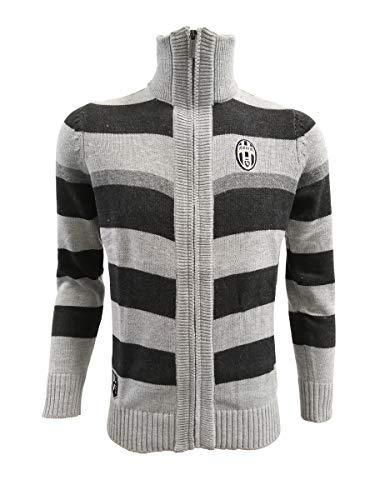 PERSEO TRADE Juventus - Sudadera con cremallera y logo histórico para niño (tallas 7/8, 9/10 y 11/12), adulto (XL S, M, L, XL, XXL) (9/10 años)