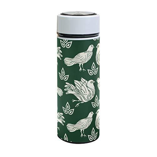 XiangHeFu lekvrije sportwaterfles houdt koude of warme duivenduiven groene drank reisbeker thermoskan