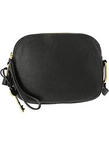 Fossil Women's Elle Leather Crossbody Handbag, Black