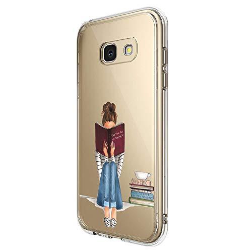 Compatible con Samsung Galaxy A5 2017, carcasa de cristal de silicona suave transparente y flexible, carcasa de silicona para Samsung Galaxy A5 2017 4 M