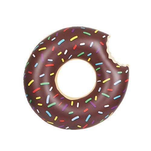GK Schwimmring Pool 80cm Neuheit Donut Aufblasbare Gummi Schwimmen Ferien Spaß Kinder Liege Schlauch Reifen Kinder