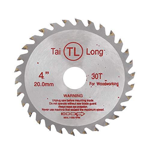 Ontracker Hoja de sierra circular de 4 pulgadas y 30 T, para cortar madera