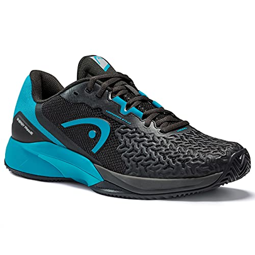 HEAD Hommes Revolt Pro 3.5 Clay Chaussures De Tennis Chaussure Terre Battue Noir - Turquoise 40,5