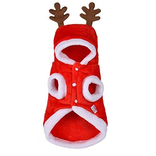 ZHTY Ropa de Mascotas de Navidad Disfraz de Perro Ciervo de Navidad Headwear para Mascotas Cat Accesorios (s) Ropa de Mascotas Song