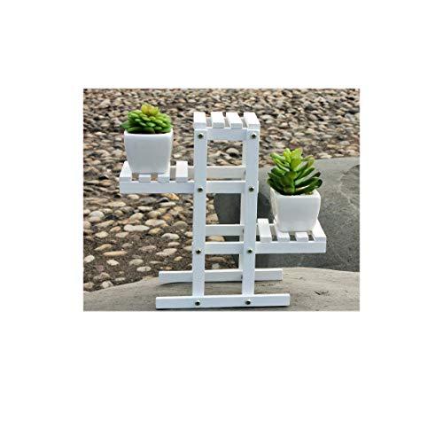 JEANGO Soporte de Madera para Flores, Soporte de exhibición de Flores Blancas, Estante para Colocar macetas
