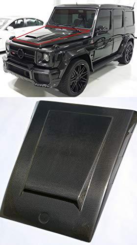 kit-car G Wagon Brabus Widestar Style – Hood Cover Carbon Fiber Hood Trim Hood Scoop Bonnet Attachment – for W463 G-Class G63 AMG G65 AMG G55 G500 Mercedes-Benz Vehicles
