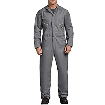 Dickies Men s 7 1/2 Ounce Twill Deluxe Long Sleeve Coverall Gray Large Regular