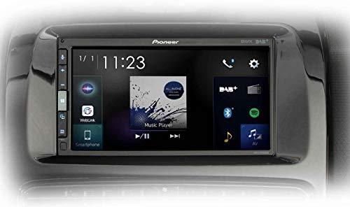 Pioneer SPH-EVO62DAB-CLIO Mediacenter für Renault Clio IV – 6,8-Zoll Touchscreen, 1,5A Quick-Charging USB, Apple CarPlay, Android Auto, DAB/DAB+ Digitalradio, Bluetooth, 13-Band-Equalizer