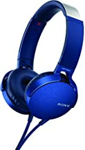 Sony XB550AP Extra Bass On-Ear Headphone, Blue (2017 model)