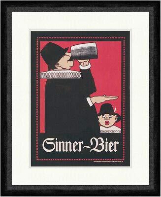 Kunstdruck Sinner Bier Alfred Kusche 1908 Karlsruhe Brauerei Faks_Plakatwelt 191